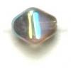 Glass Bead Lanterns 6mm Aurora Borealis Strung Transparent Black Diamond 1/2 Coat
